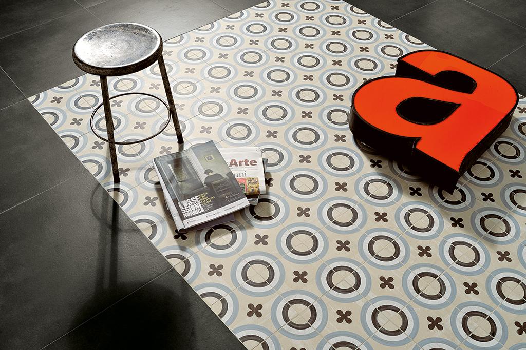 Ceramica-Fioranese_Cementine20_Cementina1+Blend-Concrete-Gomma-60x60