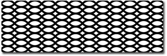 Tressage noir-blanc 20×60